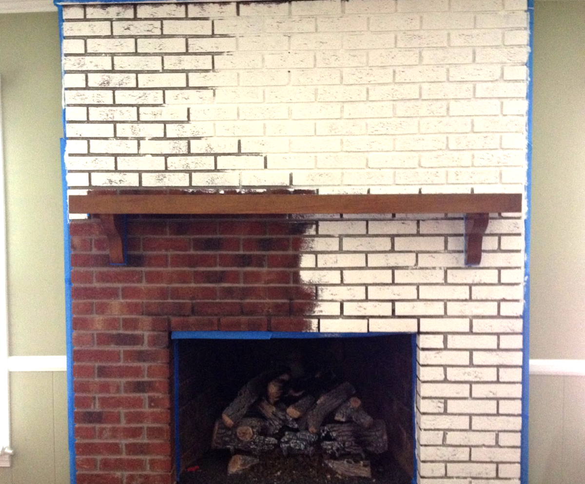 Pianting a Brick Fireplace
